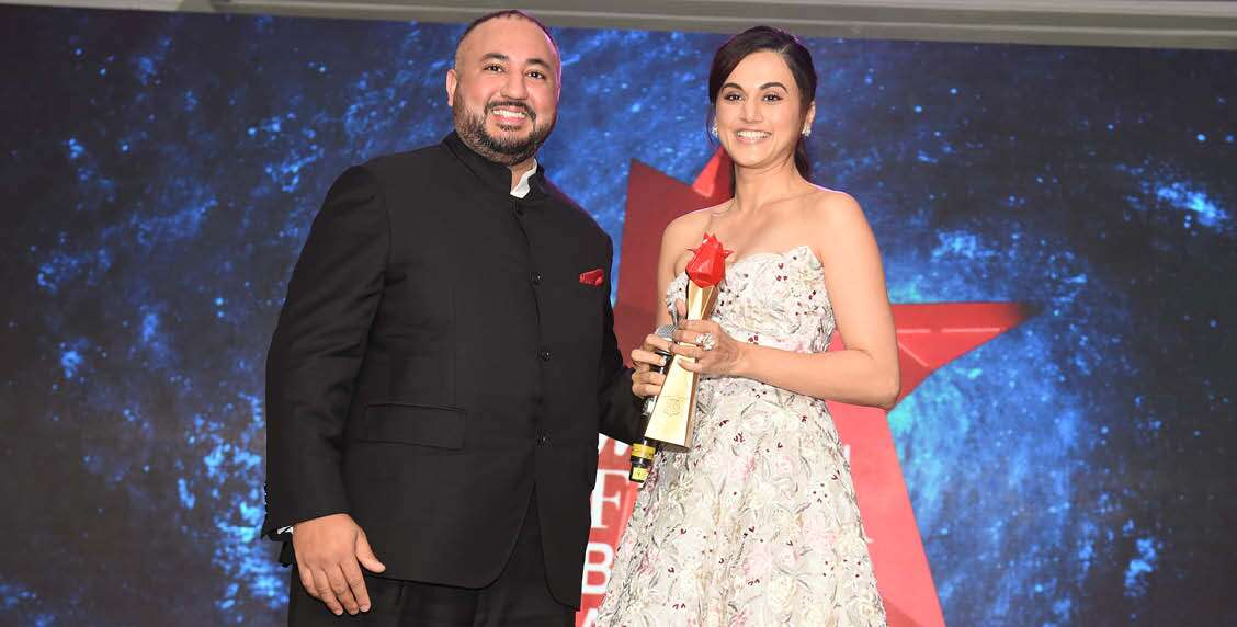 Tapsee Pannu is glowing as she receives the award for Style & Substance