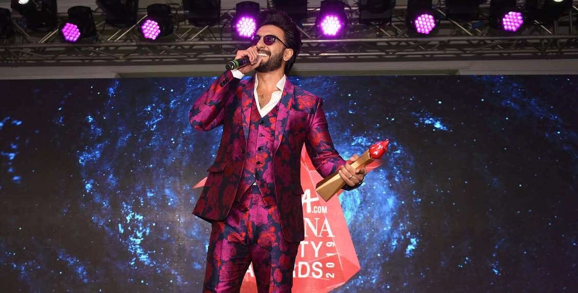 Ranveer Singh makes his thank you speech