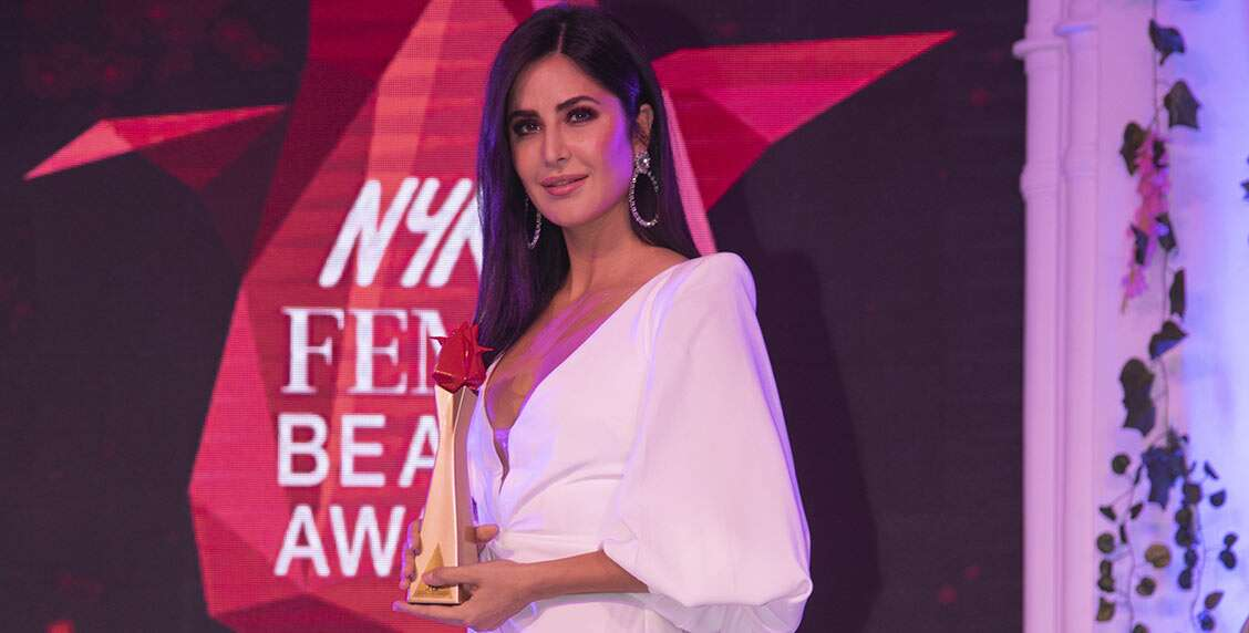 New in the beauty business, the gorgeous Katrina Kaif wins the title of Beauty Entrepreneur of the Year.