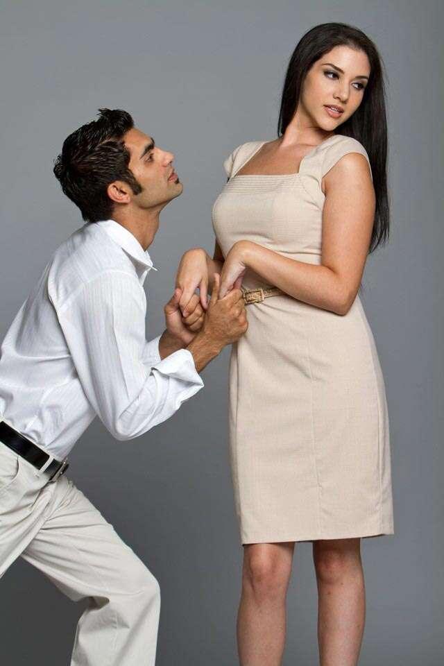 cute couple, man wooing woman