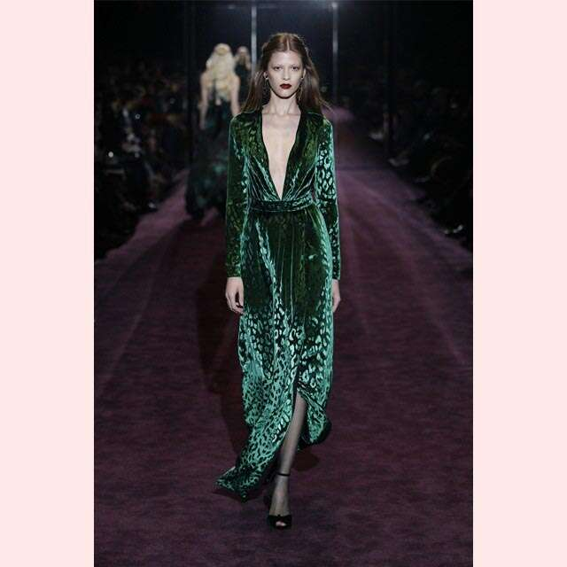 Runway inspired green touch