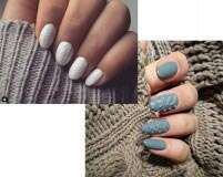 Try now: Knit-textured nails
