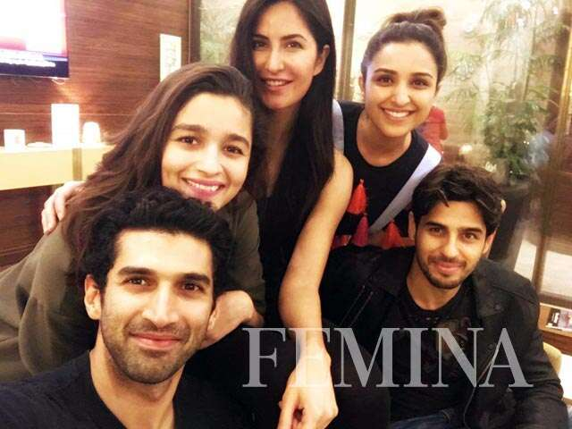 Katrina adores new friends Alia, Pari, Aditya and Sid