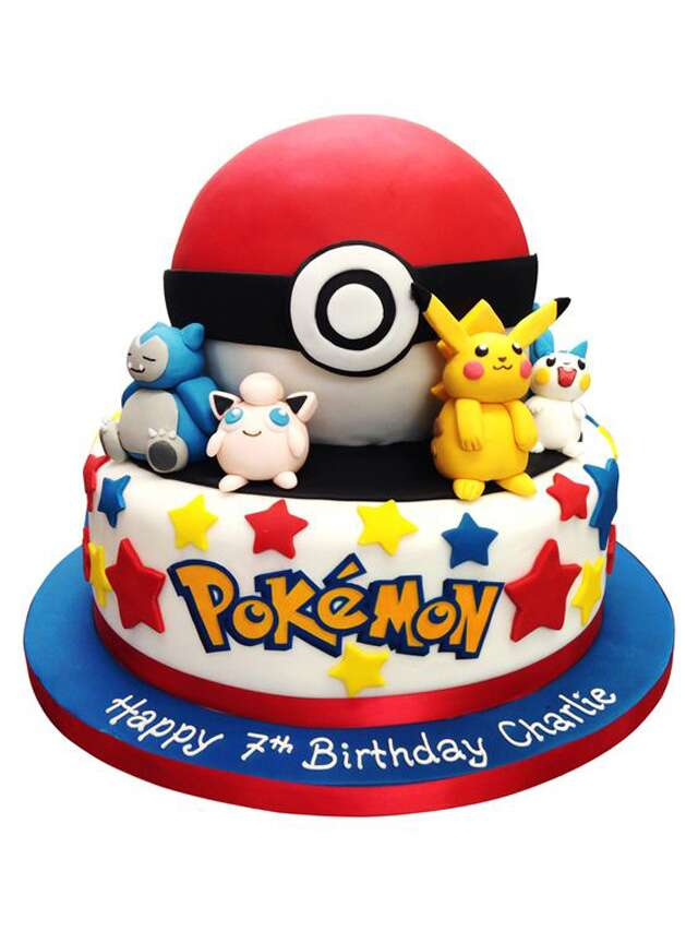 Jigglypuff Pikachu And Gang Ring 7 Year Old Charlies Birthday Picture Credit Mollybakescouk