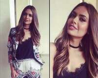 Esha Gupta's caramel highlights are summer hair goals