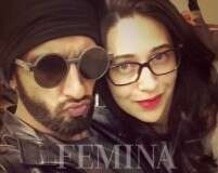Karisma Kapoor shows Ranveer Singh how to pout
