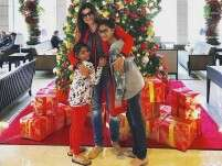 Pic: Sushmita Sen is off to a secret location to ring in Christmas