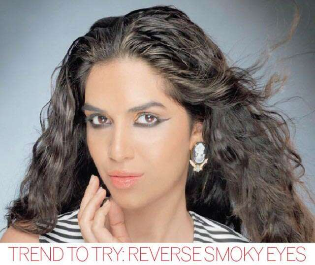 Reverse smoky eyes
