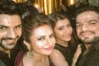 Did Karan Patel snub media at Divyanka-Vivek's reception?