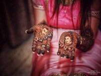 More brides are opting for portrait mehendi