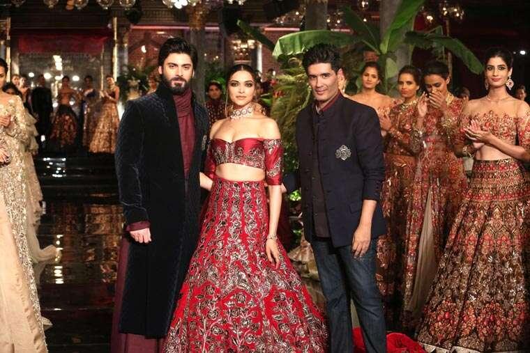 Deepika Padukone, Fawad Khan and Manish Malhotra