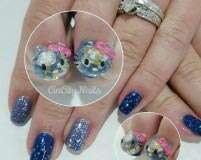 Trend to try: Snow globe nails