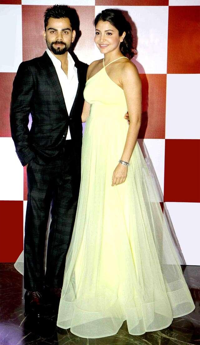 Anushka and Virat attend Sultan screening in Mumbai