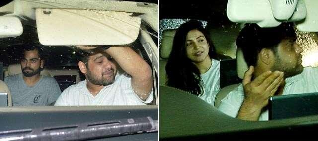 Anushka and Virat attended Sulran screening in Mumbai