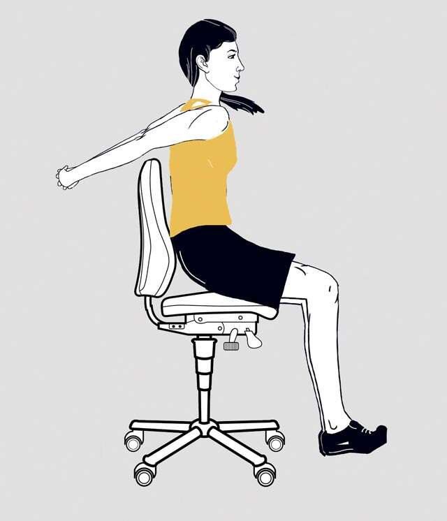 Easy exercises to do at work