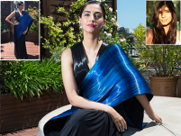 Meet the blue 'painstakingly-sewn' sari Sonam Kapoor wore at Cannes