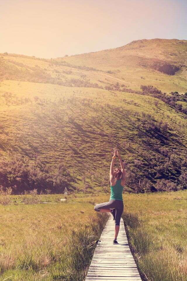 Yoga on a hike