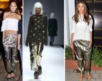 TREND: Metallic trousers