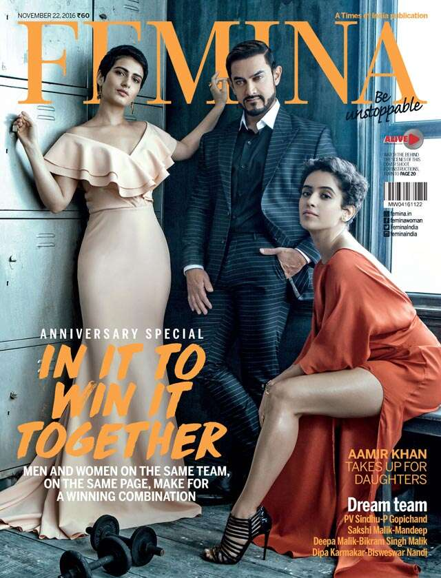 Aamir Khan on Feminas anniversary cover