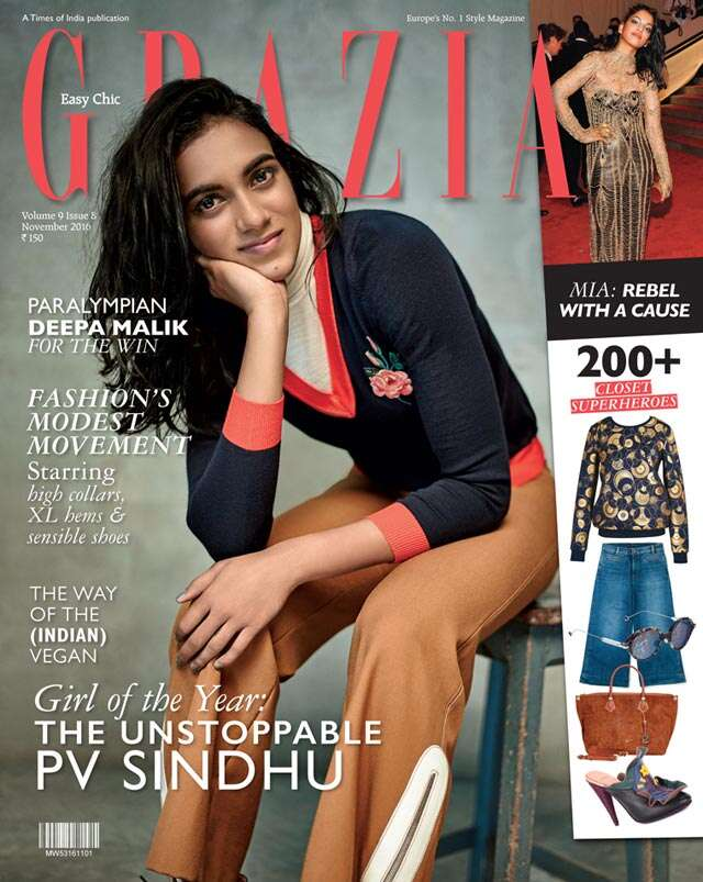PV Sindhu aces Grazia India cover!