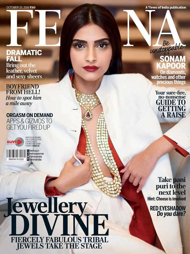 Sonam Kapoor on Femina Cover October