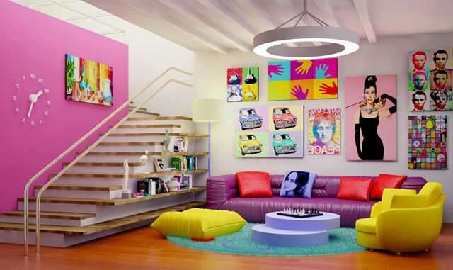 How To Design A Pop Art Inspired Living Room