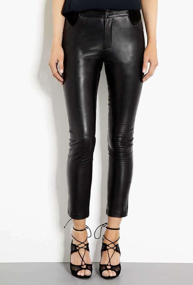 How should I style leather trousers?