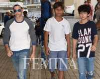 Hrithik Roshan enjoys drive with sons in brand new car