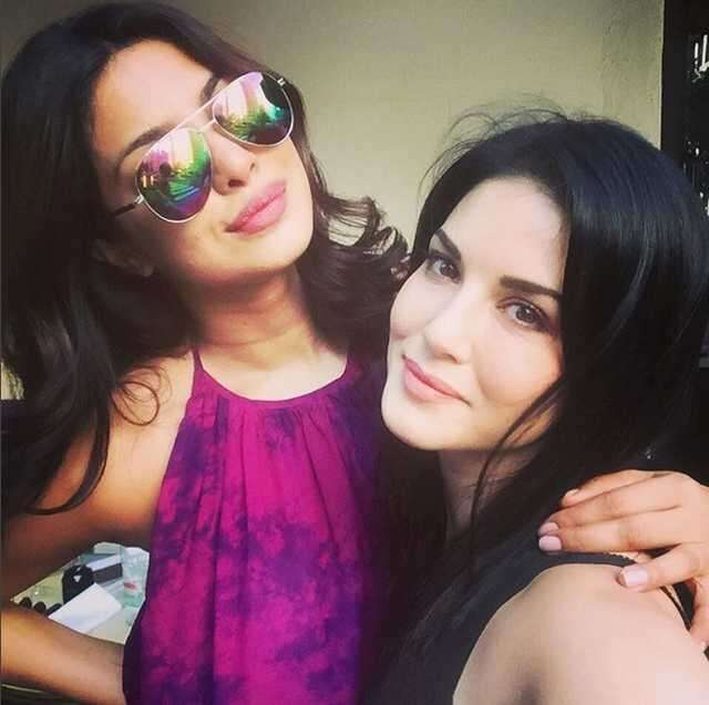 Fashionable friends: Priyanka and Sunny hang out in NYC