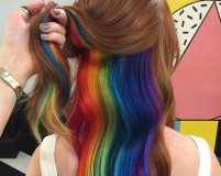 We can't get over the hidden rainbow hair trend