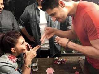 Sidharth Malhotra and Jacqueline Fernandez play poker