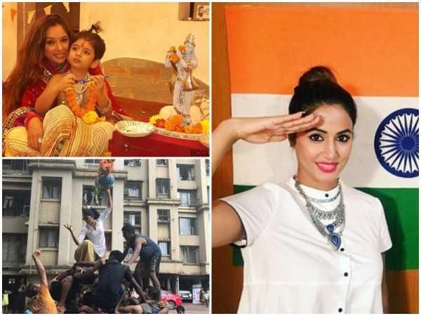 TV celebs' Independence Day & Janmashtami celebrations