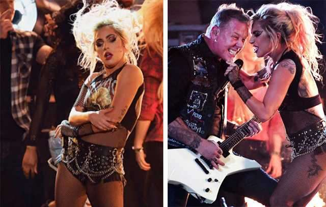Lady Gaga rocked the stage with Metallica
