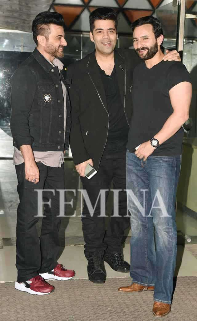 Karan Johar, Saif Ali Khan, Sanjay Kapoor