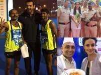 John Abraham, Rahul Bose, Juhi Chawla and other celebs add glamour to Mumbai Marathon 2017