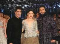 Alia Bhatt and Ranveer Singh on the runway