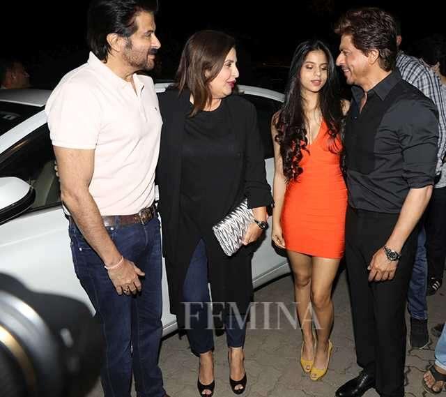 Shah Rukh Khan, Suhana Khan, Anil Kapoor