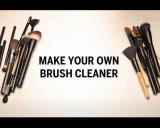 Make your own brush cleaner
