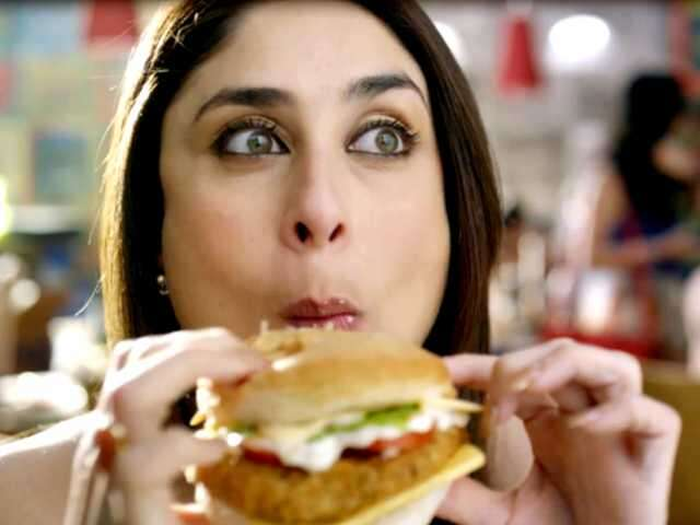 Kareena eating