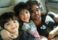 Hrithik on a vacation in Maldives with his kids