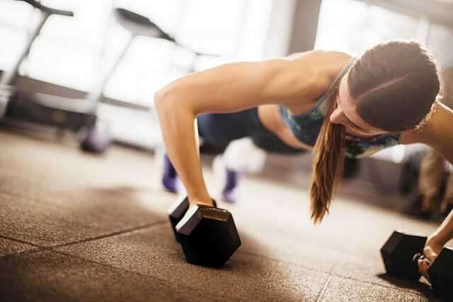 woman circuit training