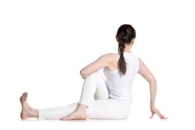 Spine twisting yoga
