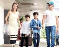 Hrithik and Sussanne enjoy Mother's Day lunch with sons