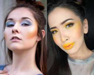 Dare to try the yellow blush makeup trend?