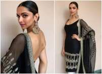 Deepika Padukone's backless black kurta is better than a LBD