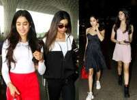 Jhanvi and Khushi Kapoor take over airport fashion