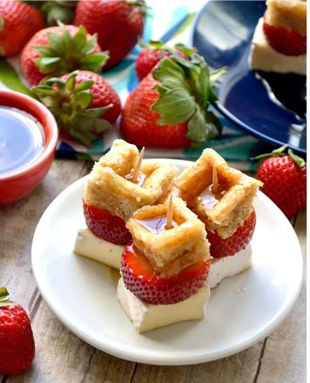 Strawberry brie waffle
