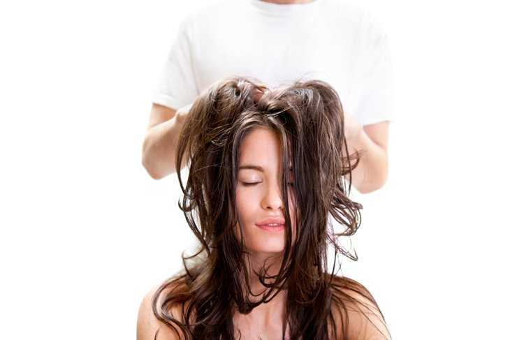 Relaxing oil massage for healthy scalp