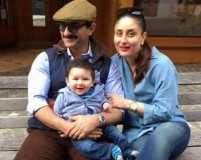 Taimur, Saif and Kareena enjoy their Swiss vacation