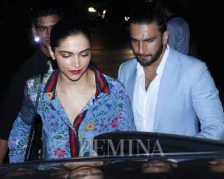 Deepika and Ranveer go from date night sweethearts to party pals